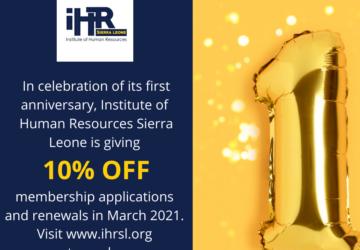 iHRSL First anniversary flyer